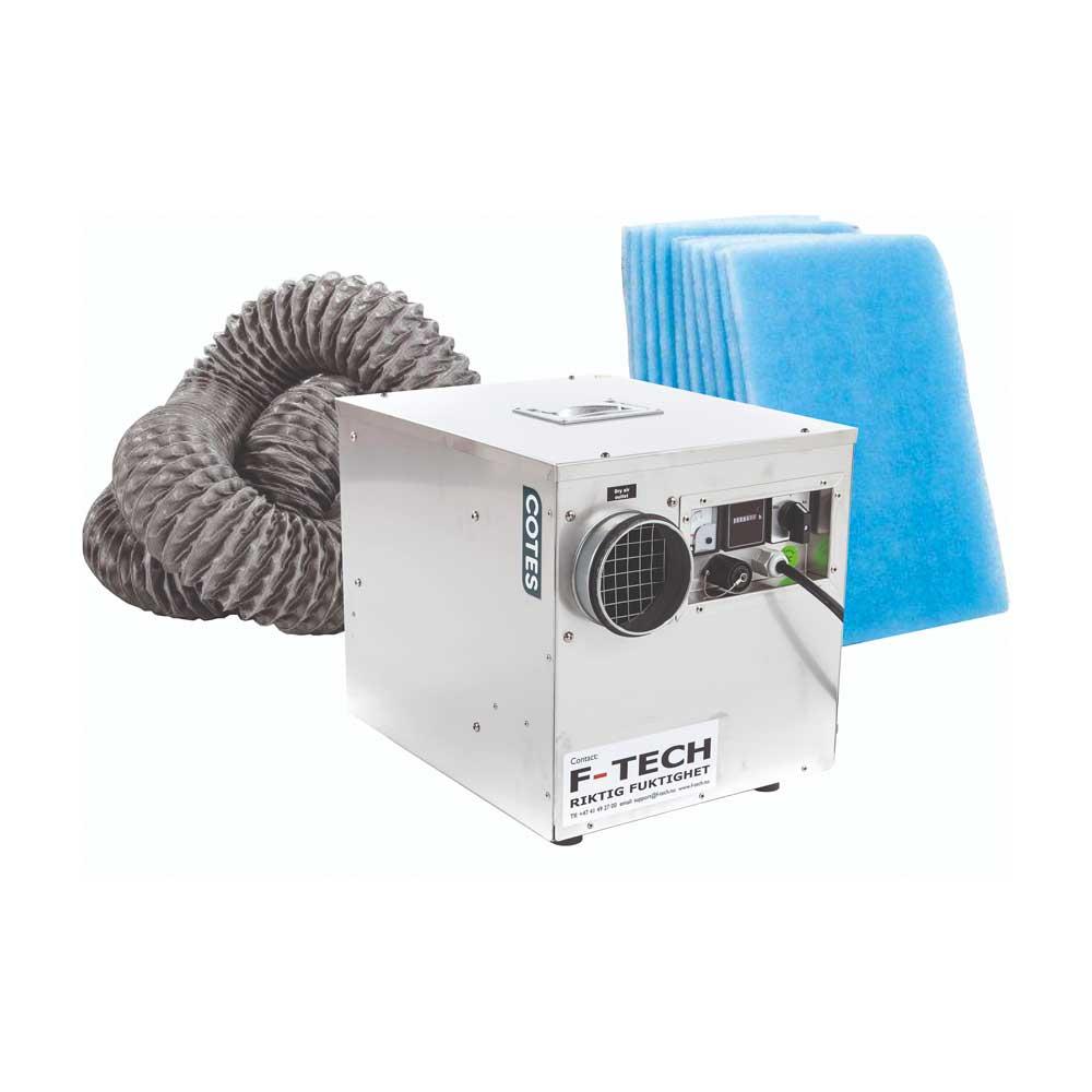 F-DRY Rotoravfukter CR240B m/slange og 10stk filter